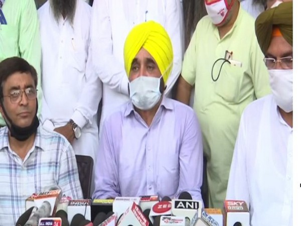 Aam Aadmi Party (AAP) leader Bhagwant Mann during press conference in Arimitsar on Sunday. Photo/ANI