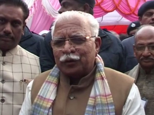 Haryana Chief Minister Manohar Lal Khattar speaking to reporters in New Delhi on Sunday. Photo/ANI