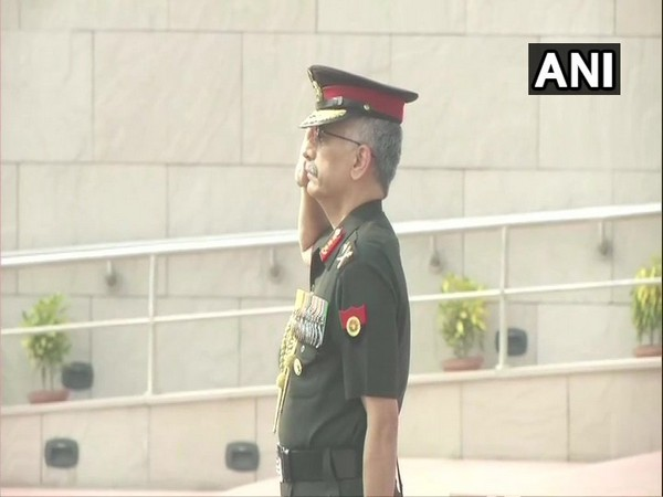 Vice Chief of Army Staff Lieutenant General Manoj Mukund Naravane at the National War Memorial in New Delhi on Monday.