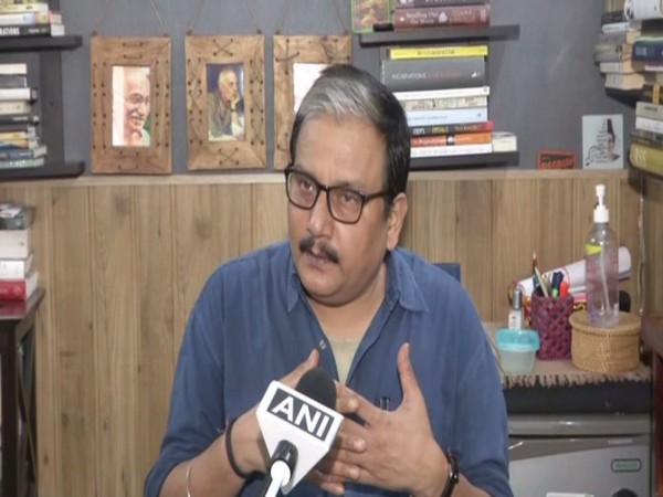 RJD MP Manoj Jha speaking to ANI in New Delhi on Friday. Photo/ANI