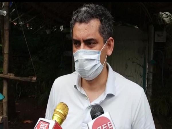 Advocate Manu Sharma, lawyer of Gaurav Arya, speaking to reporters in Goa on Saturday. Photo/ANI