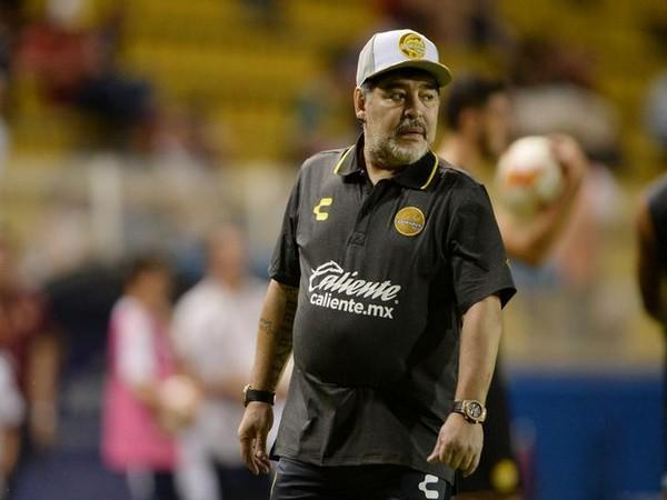 Legendary Footballer Diego Maradona of Argentina