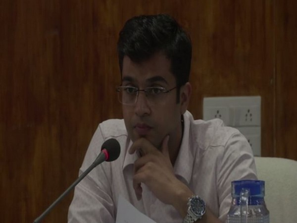 Sub-Collector Snehil Kumar Singh at the special council meeting on Saturday. Photo/ANI