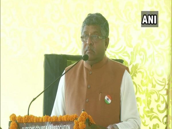 Union Minister for Communications, Electronics and Information Technology Ravi Shankar Prasad. File photo/ANI