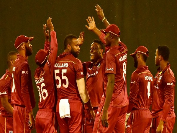West Indies team celebrating after victory. (Photo/Windies Cricket)
