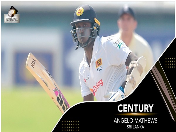 Sri Lanka batsman Angelo Mathews (Photo/ ICC Twitter)