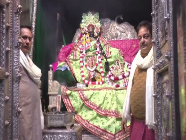 Visual from the Radha Vallabh Mandir in Mathura on Tuesday. Photo/ANI