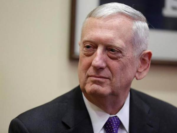 Former US Defence Secretary James Mattis (file photo)