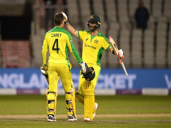 Alex Carey and Glenn Maxwell during their partnership. (Photo/ICC Twitter)