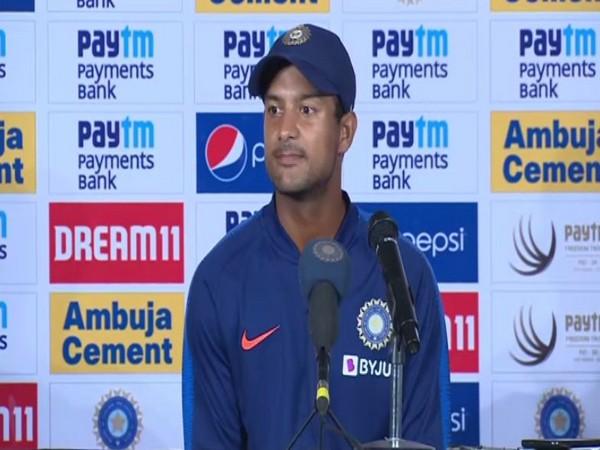 Karnataka batsman Mayank Agarwal