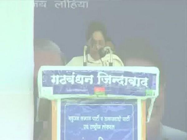 BSP chief Mayawati addressing a poll rally in Gorakhpur