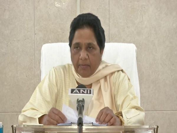BSP chief Mayawati speaking on Friday. Photo/ANI