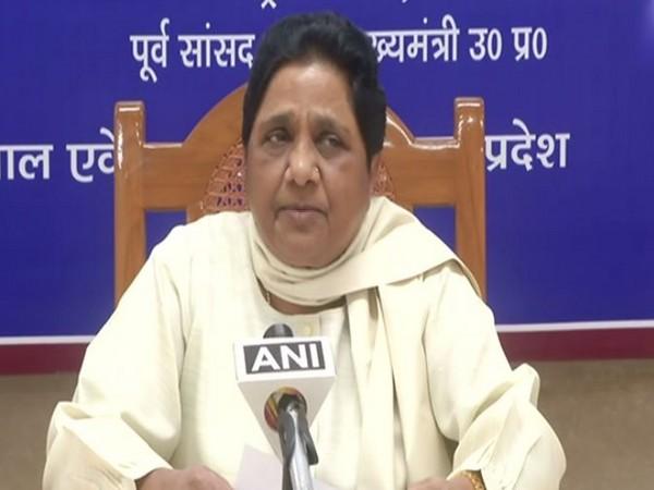 BSP chief Mayawati addressing a press conference in Lucknow, Uttar Pradesh on Thursday. (Photo/ANI)