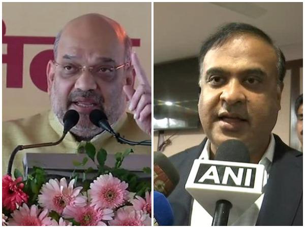 BJP president Amit Shah and Assam Minister Himanta Biswa Sarma