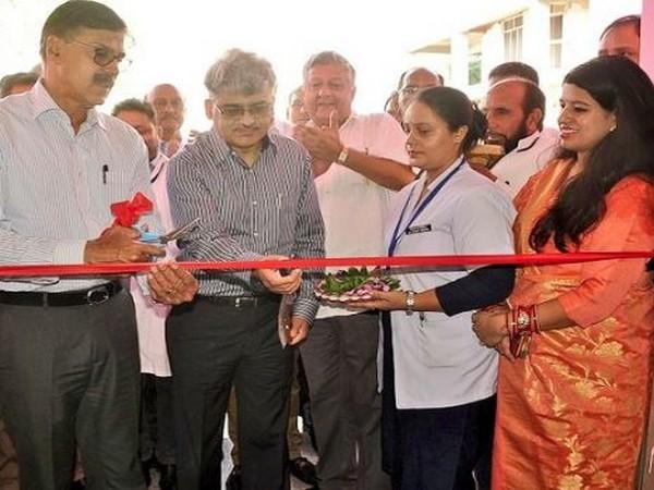 Advisor to J-K Governor, K Vijay Kumar inaugurating nursery and midwifery school on Sunday in Ramban. Photo/ANI