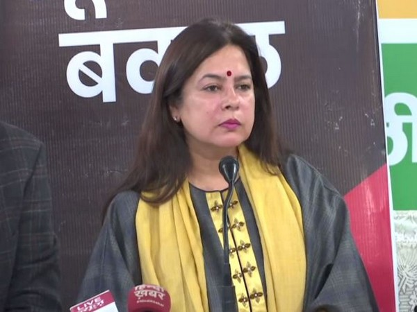 BJP MP Meenakshi Lekhi speaking at a press conference in New Delhi on Saturday. (Photo/ANI)