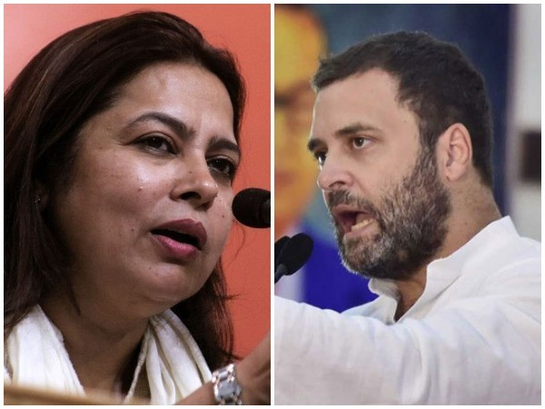 BJP lawmaker Meenakshi Lekhi (Left) and Congress leader Rahul Gandhi (Right)