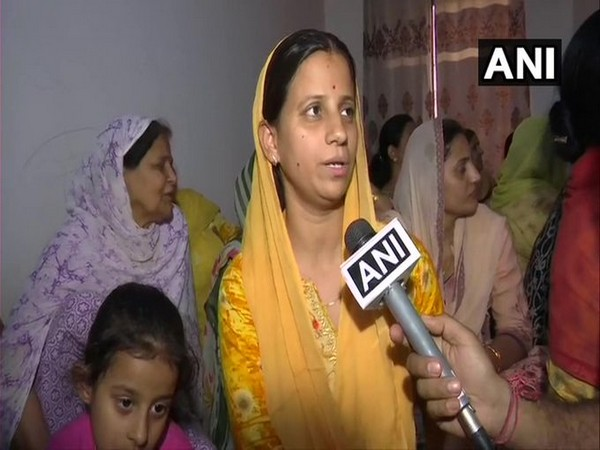 Wife of COBRA jawan Rakeshwar Singh Manhas (Photo/Credit: ANI  Twitter)