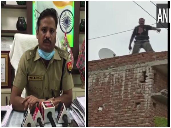 Meerut SSP Ajay Sahni (l) and the accused Shivpal aka Kalu (Photo/ANI)
