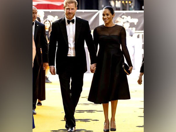 Meghan Markle with Prince Harry at 'The Lion King' London premiere (Image Courtesy: Instagram)