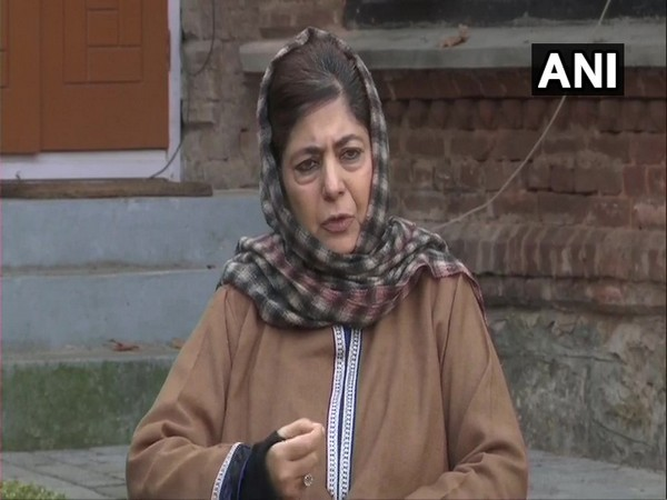 PDP Leader Mehbooba Mufti (File photo/ANI)