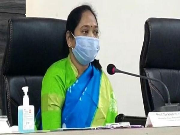 Home Minister of Andhra Pradesh, Mekathoti Sucharita (file photo)