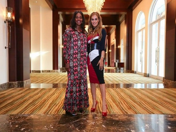 The First Lady of Liberia, Clar Weah with Dr Rasha Kelej, CEO of Merck Foundation and President, Merck More Than a Mother