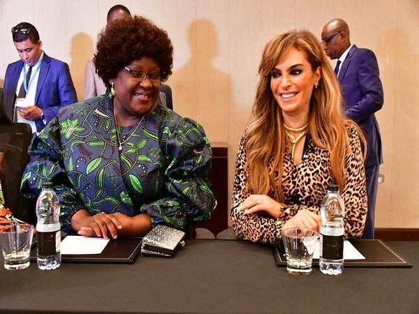 Dr Rasha Kelej, CEO of Merck Foundation with Dr Isaura Ferrao Nyusi, First Lady of Mozambique