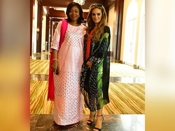 The First Lady of Guinea, Djene Conde and Dr Rasha Kelej, CEO of Merck Foundation