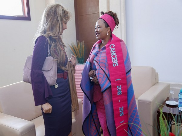 Dr. Rasha Kelej, CEO of Merck Foundation and President of Merck More Than a Mother with H.E. H.E. Dr Maesaiah Thabane