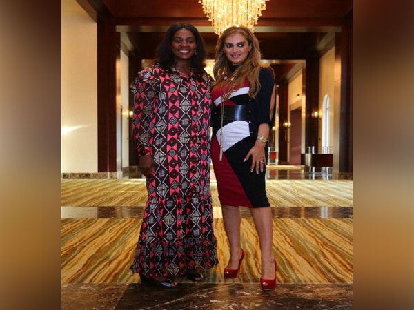 Dr Rasha Kelej, CEO of Merck Foundation and President, Merck More Than a Mother with Clar Wwah, the First Lady of Liberia and Ambassador of Merck More Than a Mother