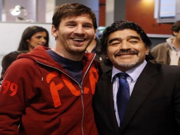 Lionel Messi with Diego Maradona (Photo/ Lionel Messi Instagram)