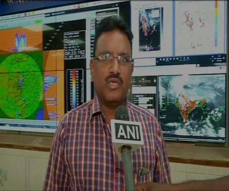 Assistant Meteorologist L Venkatesh Rao speaking to ANI in Hyderabad on Wednesday. Photo/ANI