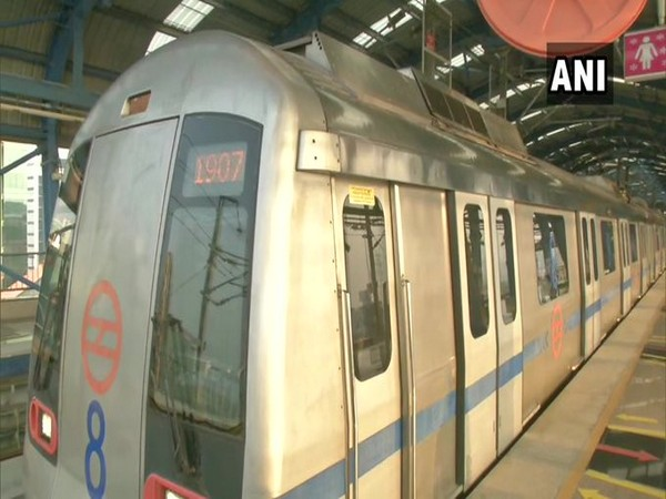 Delhi Metro resumes service on Blue and Pink lines. Photo/ANI