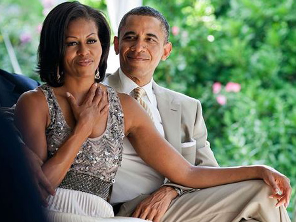 Former American President Barack Obama and former first lady of America Michelle Obama