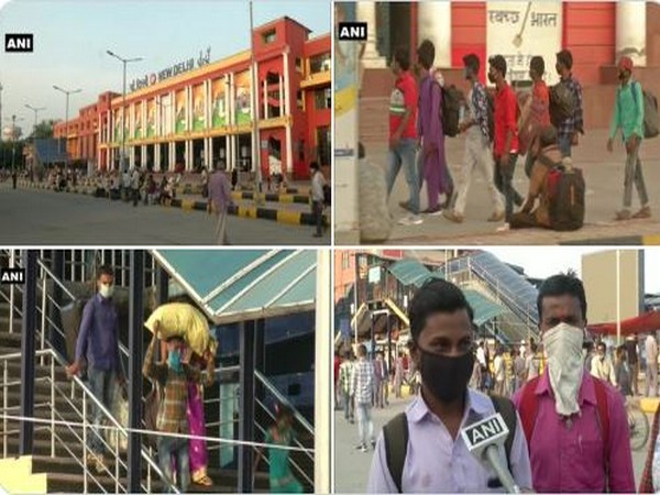 Migrant workers are returning back to their workplaces as the government has given permission to resume work amid the unlock phase. (Photo/ANI)