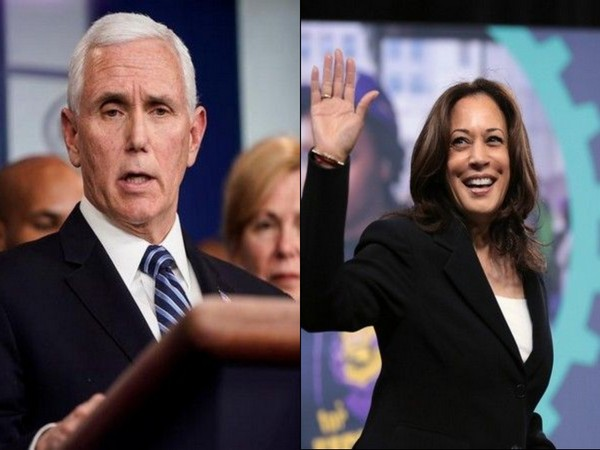 US Vice President Mike Pence and US Vice President candidate Kamala Harris