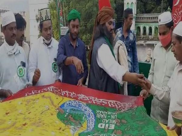 Milad-un-Nabi was celebrated in Kondapalli in Andhra Pradesh. [Photo/ANI]