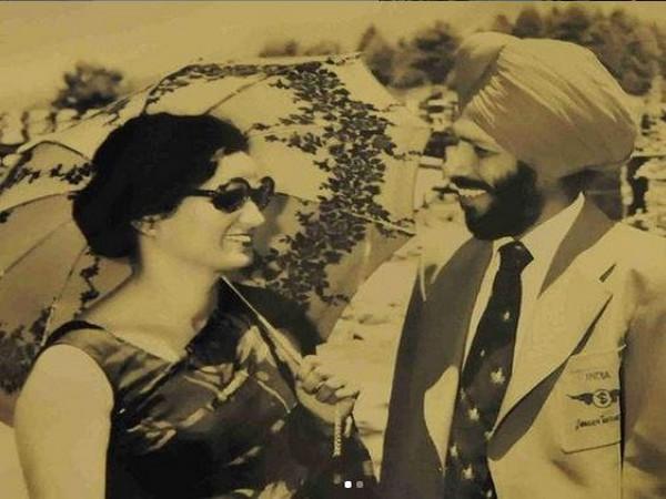 Milkha Singh with wife Nirmal Kaur (Photo/ Jeev Milkha Singh Instagram)