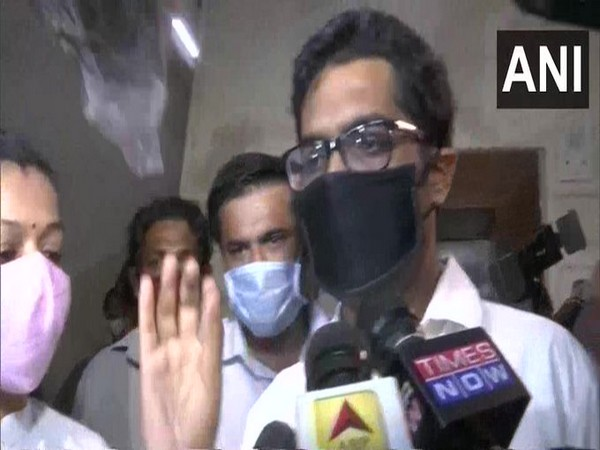 Abhiraj Parab, Samuel Miranda's lawyer speaking to reporters at NCB office in Mumbai on Friday. Photo/ANI