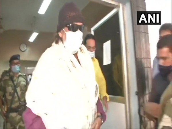 BJP leader Mithun Chakraborty after casting his vote. (Photo/ ANI)