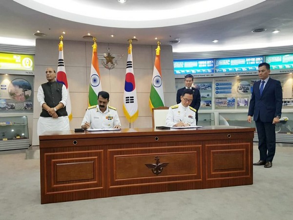India and South Korea sign two MoUs on Friday to boost defence cooperation (Picture Credits: Defence Ministry/Twitter)