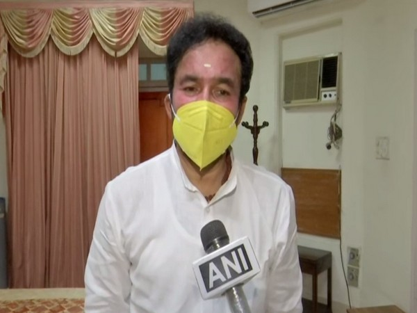 Union Minister of State for Home Affairs G Kishan Reddy speaking to ANI.