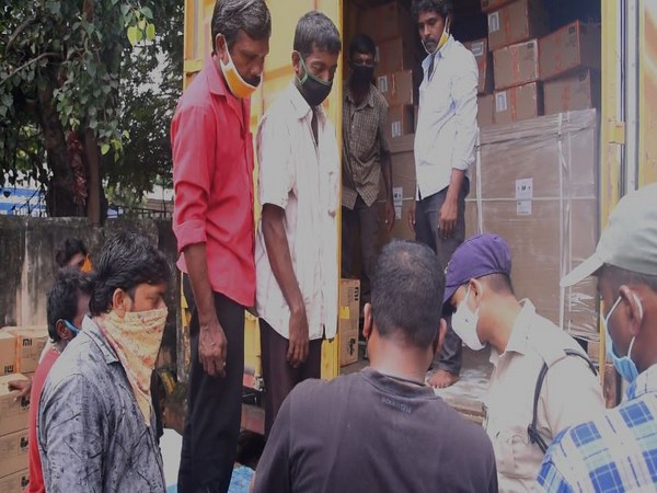 Mobile phones worth Rs 80 lakh were stolen from container truck in Guntur city, Andhra Pradesh.