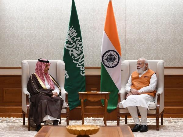 Prime Minister Narendra Modi and Saudi Arabia's Foreign Minister Prince Faisal bin Farhan Al Saud (Photo Credit: Twitter)