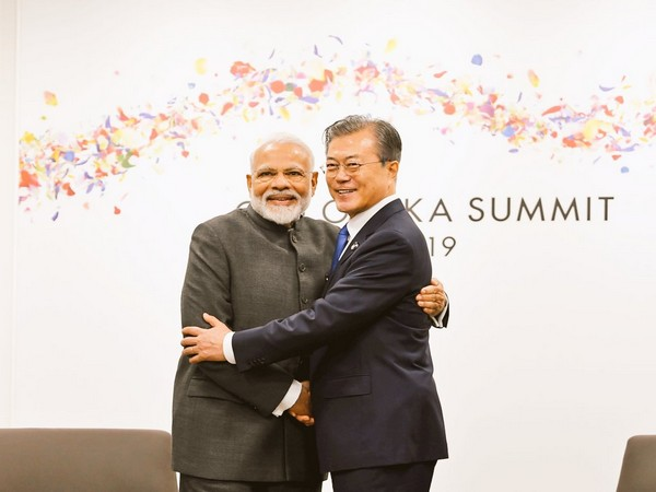 Prime Minister Narendra Modi and South Korean President Moon Jae-in holds a bilateral on the sidelines of G20 on Friday. (Photo credit: Raveesh Kumar twitter)
