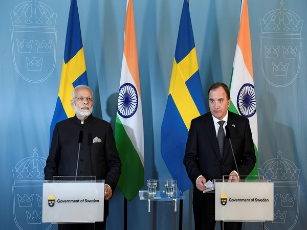 Prime Minister Narendra Modi with Prime Minister Stefan Lofven (Photo Credit - Reuters)