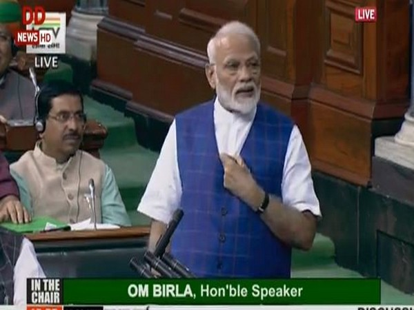 Prime Minister Narendra Modi speaking at Parliament on Tuesday.