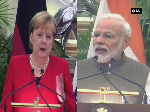 Prime Minister Narendra Modi and German Chancellir Angela Merkel