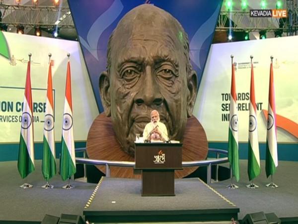 PM Narendra Modi speaking on Saturday. Photo/ANI